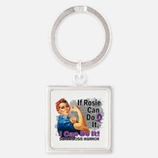 If Rosie Can Do It Sarcoidosis Square Keychain