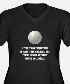 Volleyball Easy Plus Size T-Shirt