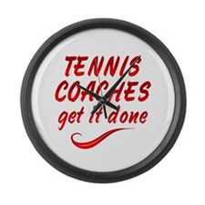 Tennis Coaches Large Wall Clock