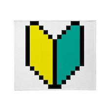 Pixel Wakaba / Shoshinsha Mark Throw Blanket