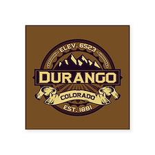 "Durango Sepia Square Sticker 3"" x 3"""
