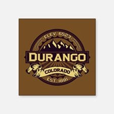 "Durango Sepia Square Sticker 3"" x 3"""