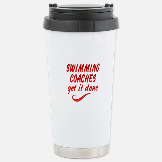 Swimming Coaches Stainless Steel Travel Mug