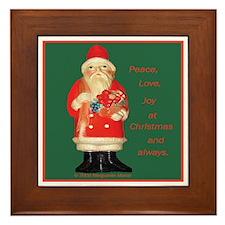 Father Christmas Framed Tile