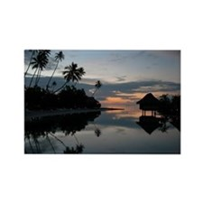 Tahiti Sunset Rectangle Magnet