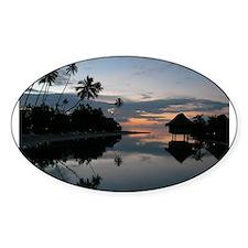 Tahiti Sunset Oval Decal