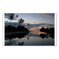 Tahiti Sunset Rectangle Decal