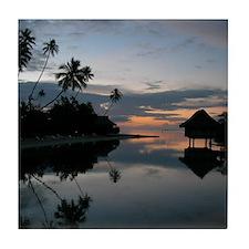Tahiti Sunset Tile Coaster