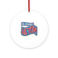 The Incredible Keyon Ornament (Round)