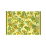 vineyard leaves tapestry Rectangle Magnet (100 pac