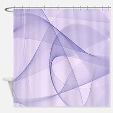 Purple Fractals Shower Curtain