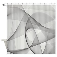 Gray Fractals Shower Curtain