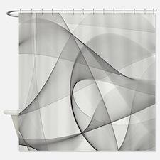 Gray Fractals Shower Curtain
