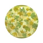vineyard leaves tapestry square Ornament (Round)
