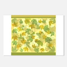 vineyard leaves tapestry square Postcards (Package