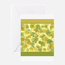 vineyard leaves tapestry square Greeting Card