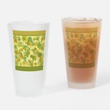 vineyard leaves tapestry square Drinking Glass