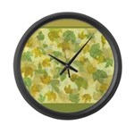 vineyard leaves tapestry square Large Wall Clock