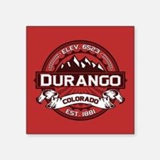 "Durango Red Square Sticker 3"" x 3"""
