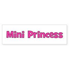 Mini Princess Bumper Bumper Sticker