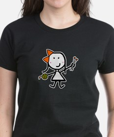 Girl & Knitting Tee