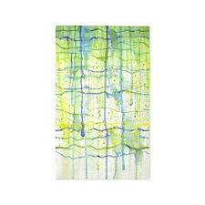 Electric Rain Abstract 3'x5' Area Rug