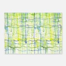 Electric Rain Abstract 5'x7'Area Rug