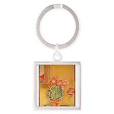 Cactus! Southwest art! Keychains