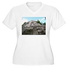 "Ancient Mayan Ruins ""Lumanai"" in Belize Plus Size"