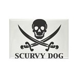 Scurvy Pirate Rectangle Magnet