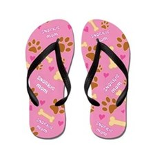 Snorkie Mom Gift Flip Flops