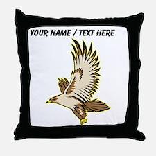 Custom Flying Falcon Throw Pillow