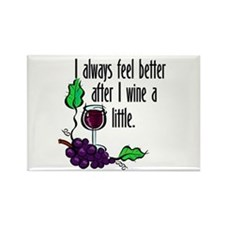 I Whine & Wine Rectangle Magnet (10 pack)