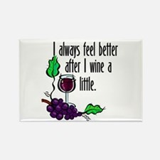 I Whine & Wine Rectangle Magnet