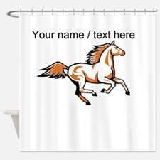 Custom Running Horse Shower Curtain