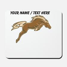 Custom Jumping Horse Mousepad