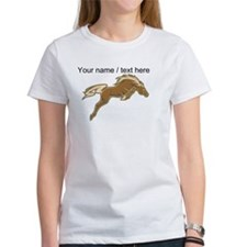 Custom Jumping Horse T-Shirt