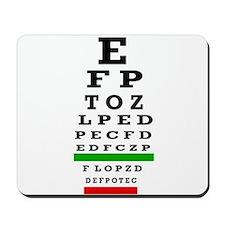CP duvet cover eye chart Mousepad