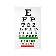 CP duvet cover eye chart 3'x5' Area Rug