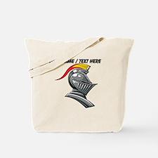 Custom Knight Helmet Tote Bag