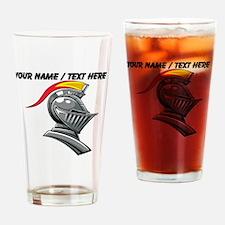 Custom Knight Helmet Drinking Glass