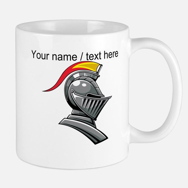 Custom Knight Helmet Mug