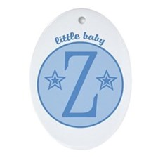 Baby Z Oval Ornament
