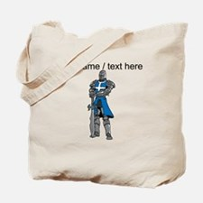 Custom Blue Knight Tote Bag