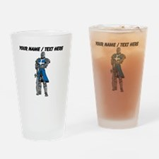 Custom Blue Knight Drinking Glass