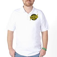 #1 Hockey Dad, Black Gold T-Shirt