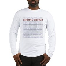 TOP TEN SIGNS YOURE ORTHODOX Long Sleeve T-Shirt