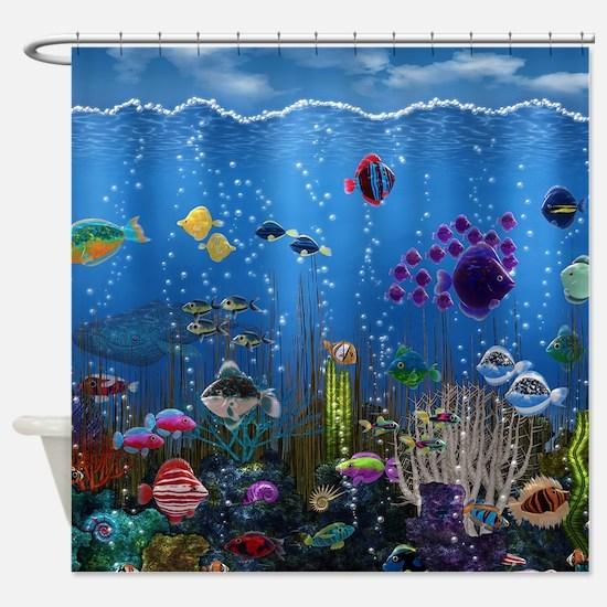 Underwater Love Shower Curtain