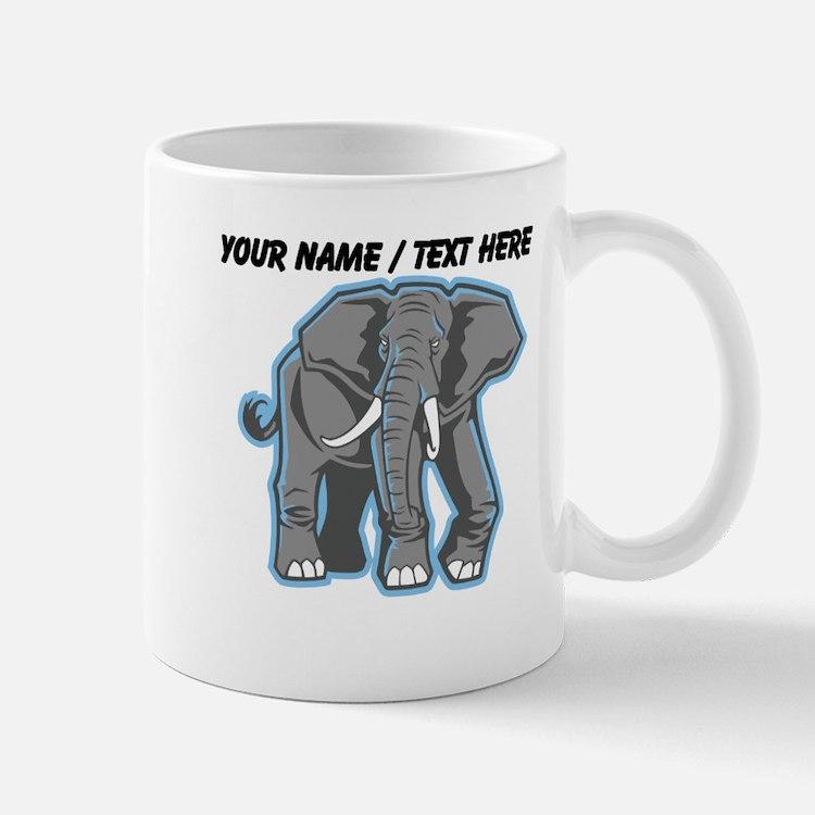 Custom Elephant Mascot Mug