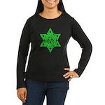 Celtic Star of David Women's Long Sleeve Dark T-Sh